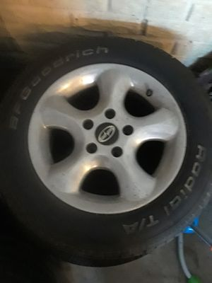 Set of tires and aluminum rims for Sale in Washington, IL