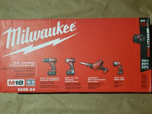Milwaukee M18 4pcs Hammer Drill Kit W/2 (3.0) Batteries And Charger for Sale in Greenville, SC