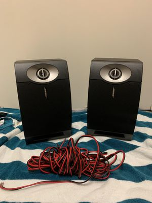 Two Bose Shelf Speakers and Onkyo Receiver for Sale in Atlanta, GA