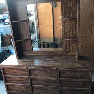Large dresser With Mirror for Sale in Visalia, CA
