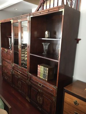 3 piece Bernhardt bookcases with secretary for Sale in Barrington, IL