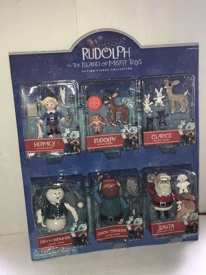 Rudolph and The Island of Misfit Toys Action Figure Collection New 2001 Rare for Sale in Avon, MA