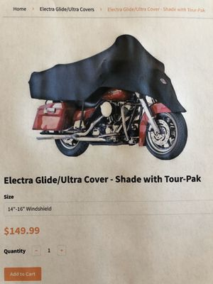 Harley-Davidson Electra Glide/Ultra Cover-Shade with Tour-Pak for Sale in Hesperia, CA