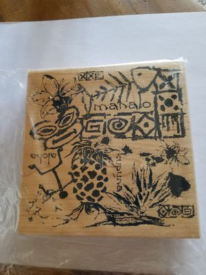 Hawaiian themed rubber stamp for Sale in Chicago, IL