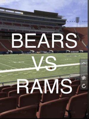 Chicago Bears VS LA RAMS FIELD LEVEL ROW 11 - 4 TICKETS for Sale in Torrance, CA