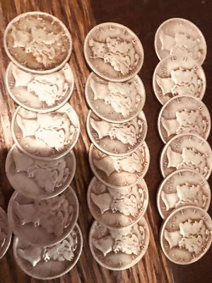 Lady liberty dimes 1921through 1945 for Sale in Lubbock, TX
