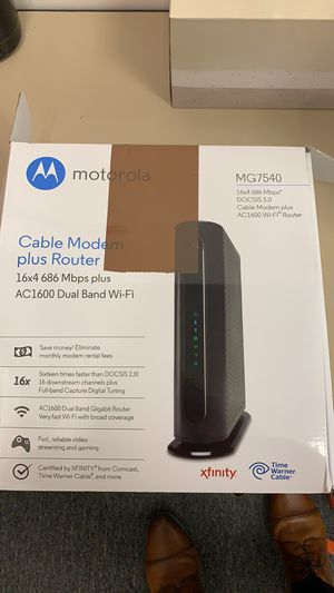 Motorola mg7540 modem and router for Sale in Brooklyn, NY