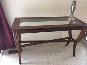 Side solid wood table for Sale in Falls Church, VA
