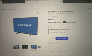 Element 40'' 1080 LED TV for Sale in Lacey, WA