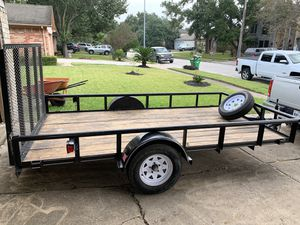Trailer 6x12 título en mano con llenta extra for Sale in Humble, TX