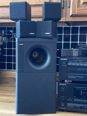 Bose Surround Sound with Sony 5 Disc Player and Receiver for Sale in Lorain, OH