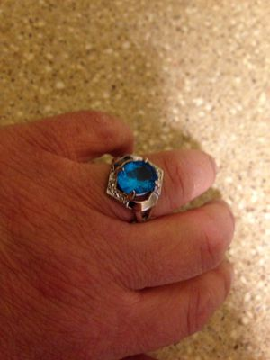 Turquoise Color Silver Plated Ring Size 9. Brand New for Sale in Arlington, VA