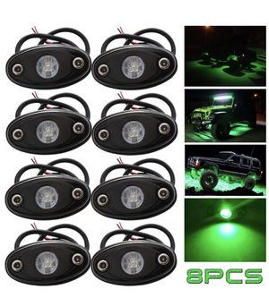 NEW! LED Rock Lights Green Kit for JEEP Off Road Truck ATV SUV Car Boat Auto High Power Underbody Glow Neon Trail Rig Lamp Underglow Lights Waterproo for Sale in Stuart, FL