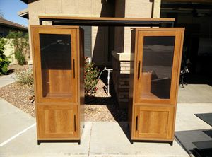 Entertainment Center with Glass Shelving and Lights for Sale in Sun City, AZ