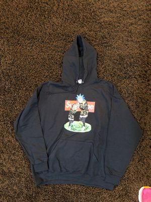 Rick and Morty supreme hoodie Black Men's XL Hoodie $25 for Sale in Bothell, WA