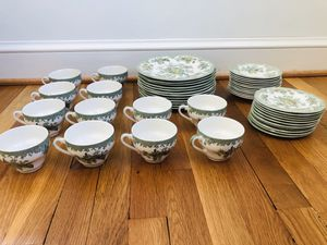 Wedgwood Asiatic Pheasants China Set - English China Lot - Teacups and Saucers - Set for 12 (48 pieces) for Sale in Takoma Park, MD