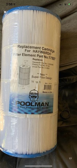 Pool man replacement cartridge filter brand new for Sale in Plant City, FL
