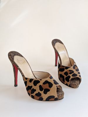 Leopard Christian Louboutin Mules Peep-toe for Sale in Denver, CO
