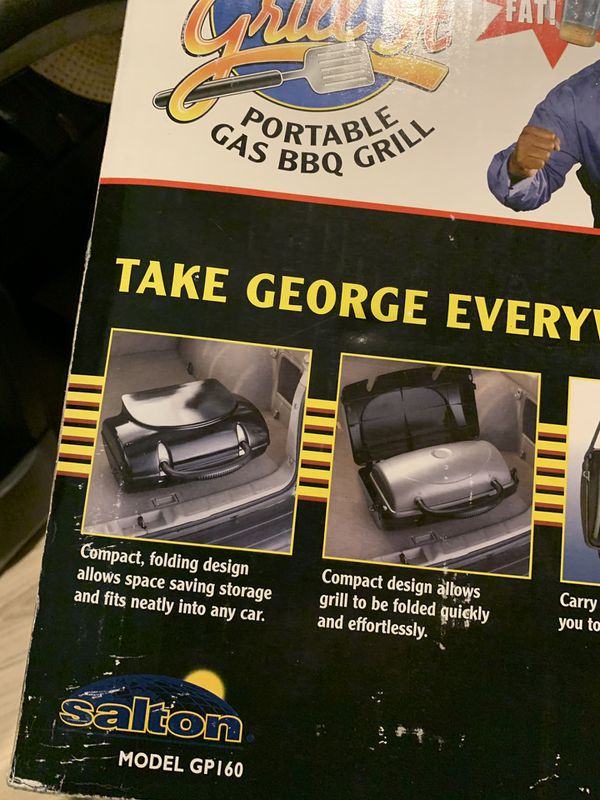George Foreman portable propane barbecue grill