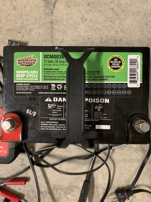 Interstate battery marine deep cycle for kayaks or small boats for Sale in Irvine, CA