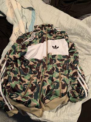 Adidas x Bape track jacket for Sale in Granite City, IL
