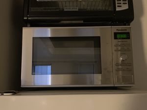 MUST GO TODAY Panasonic Silver Microwave (60$ Originally 120$) for Sale in New York, NY