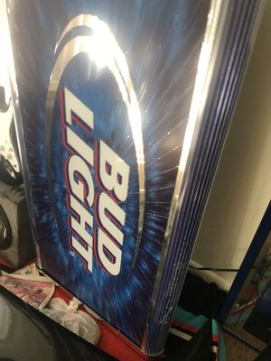 Bud light bar light up sign like new for Sale in Germantown, MD