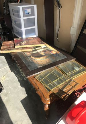 Coffee table and paintings for Sale in Salt Lake City, UT