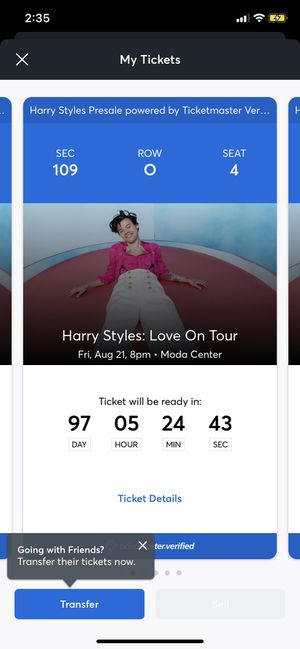 Harry Tickets for Sale in Beaverton, OR