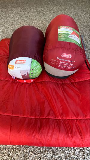 Coleman Camping Sleeping bags (3 quantity) for Sale in San Antonio, TX