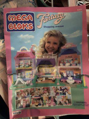 Vintage mega blocks fantasy shopping and mansion for Sale in Mifflinburg, PA