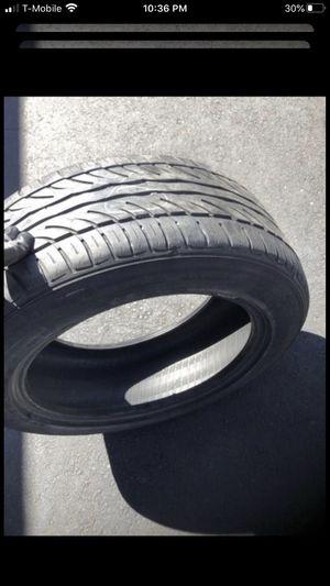 Set of 4 Tires all 205/55/16. One Ohtsu 75% tread, One Nexen 90% tread, One BFGOODRICH 65% tread, & One Cooper 80% tread for Sale in Temecula, CA