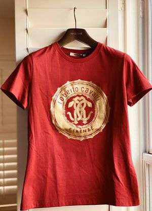 Roberto Cavalli Brand New T-Shirt Red/Gold 2019 Small Size for Sale in Las Vegas, NV