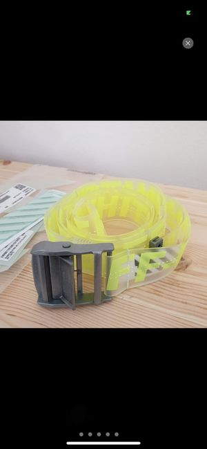 Off white rubber belt neon yellow for Sale in Melbourne, FL