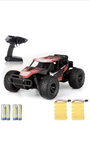 Remtoe Control Car Kids Toys - Free to Fly 2020 Newest High Speed RC Cars 2.4Ghz 1/16 Off Road RC Trucks with Tow Rechargeable Batteries Toys for Adu for Sale in Corona, CA