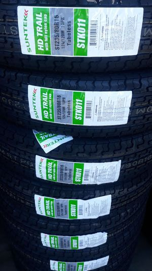 St235 80 r16 trailer 10ply tires 4 new tires$320 for Sale in Lake Elsinore, CA