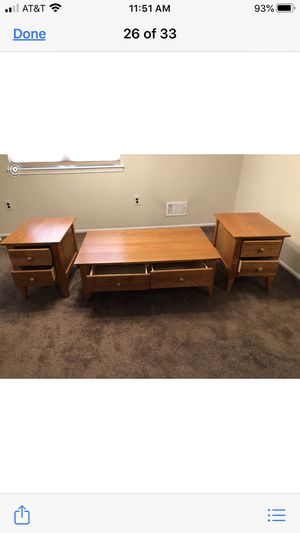 Coffee table and end tables set for Sale in Freehold, NJ