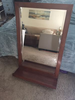 Large cherry wood mirror for Sale in Los Angeles, CA