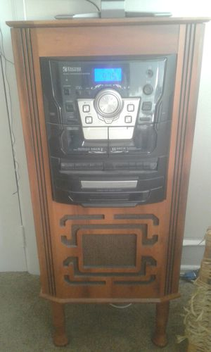 Vintage looking stereo system with CD/Tape AND HIDDEN TURNTABLE! for Sale in Philadelphia, PA