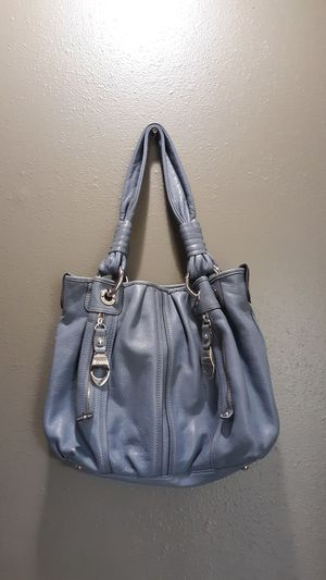 B. Makowsky Slate Blue Hobo Leather Shoulder Bag Purse for Sale in Vancouver, WA
