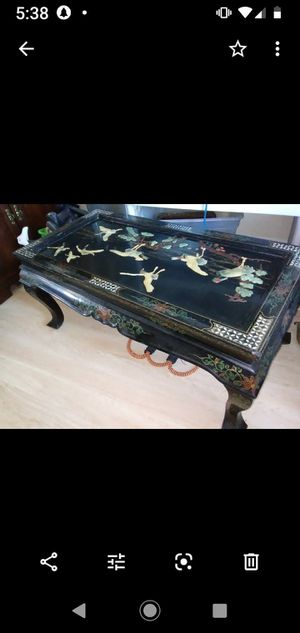 vintage antique Handcrafted Oriental coffee table mint condition for Sale in Las Vegas, NV