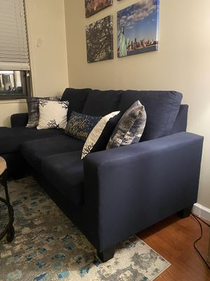 Reversible sectional couch (navy) for Sale in New York, NY