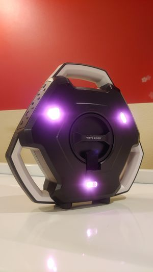 Ion Audio Wave Rider: Waterproof Wireless Bluetooth Floating Speaker with LED Light show - Black&White for Sale in Seattle, WA