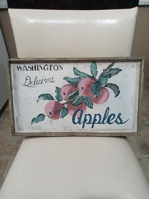 VINTAGE RUSTIC OLD FASHION FARMHOUSE WASHINGTON APPLES WALL HANGING KITCHEN DECOR. for Sale in Covington, KY