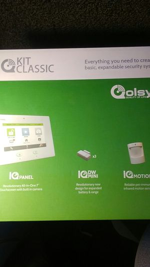 IQ ALARM PANEL KIT CLASSIC 3 DOOR/WINDOW AND 1 MOTION for Sale in Las Vegas, NV
