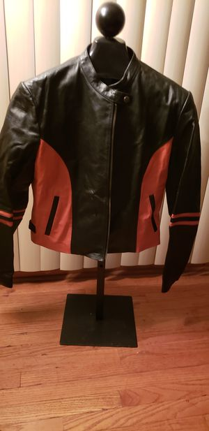 Ladies Leather Motorcycle/ Everyday Jacket for Sale in Cleveland, OH