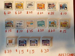 Nintendo 3DS games ALL GAMES ARE DIFFERENT PRICES for Sale in Fresno, CA
