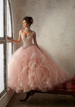 Jeweled Beading on a Flounced Tulle BallGown for Sale in Highland, CA