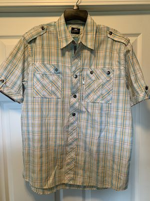 Short sleeve plaid shirt size L for Sale in Cadwell, GA