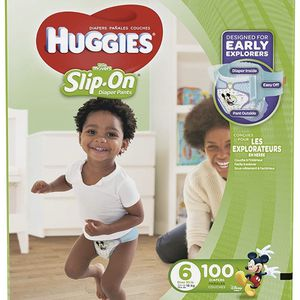 Huggies Slip On Little Movers Size 6 Diapers/pañales for Sale in Downey, CA